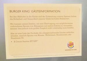 Ganz innovativ: Burger King verarbeitet auch Wallnüsse ...