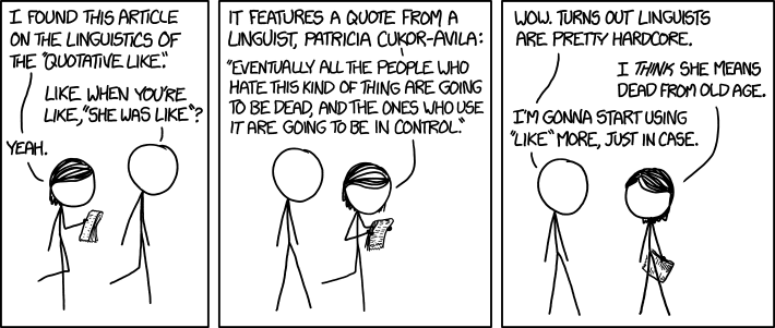 Quotative Like (xkcd)